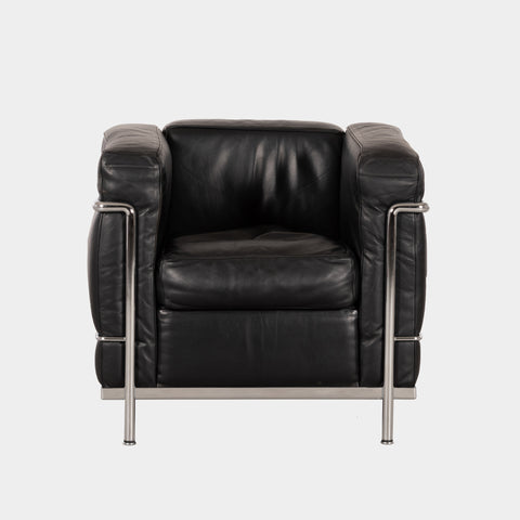 Le Corbusier LC2 black leather