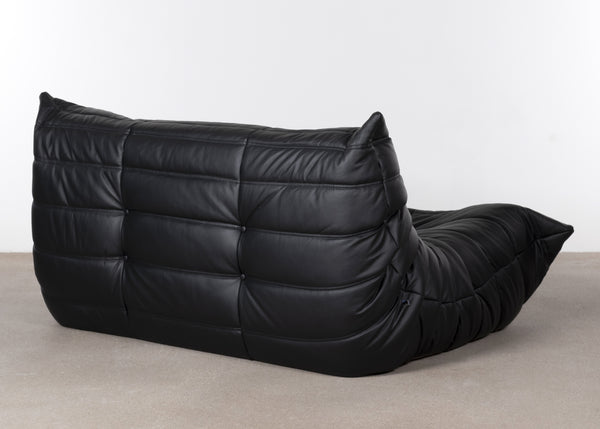 Michel Ducaroy Togo 2-seater black leather