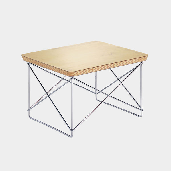 Charles & Ray Eames LTR Table gold leaf / chrome