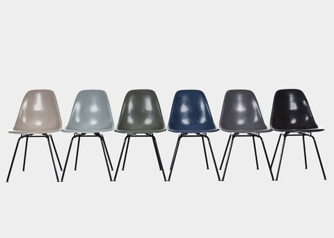 Vintage Eames DSX Greige, Sea Foam Green, Olive Green Dark, Navy Blue, Elephant Hide Grey, Black
