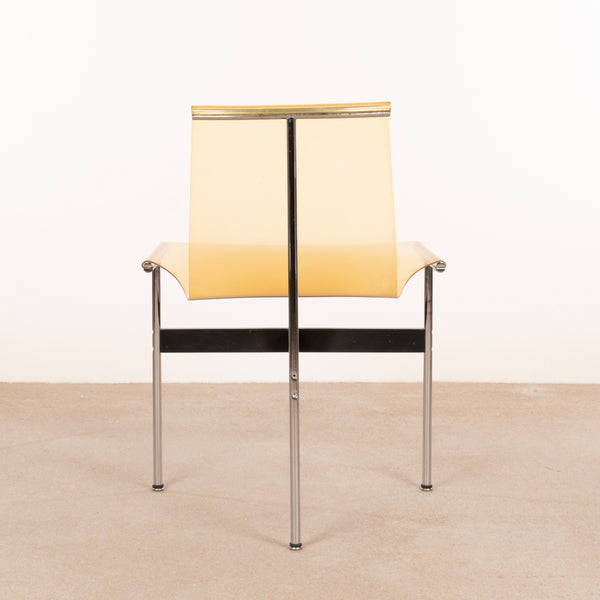 Katavolos, Kelly and Littell T-Chair in ochre transparent PVC