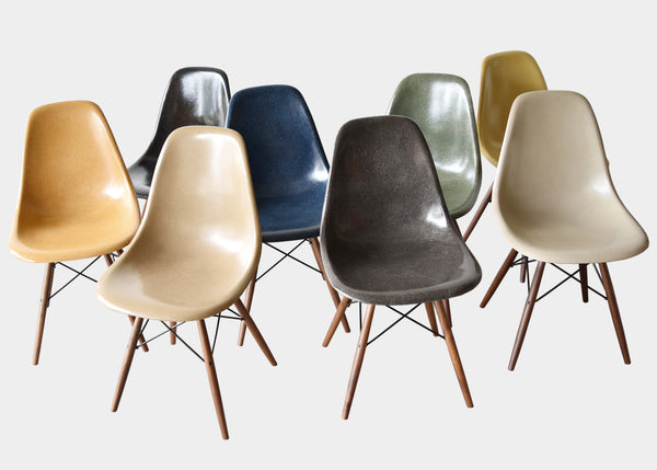 Vintage Eames DSW Black, Charcoal, Greige, Navy Blue, Ochre Dark, Ochre Light, Olive Green Dark, Tan Light