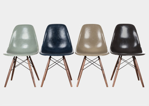 Vintage Eames DSW Sea Foam Green, Navy Blue, Raw Umber, Charcoal