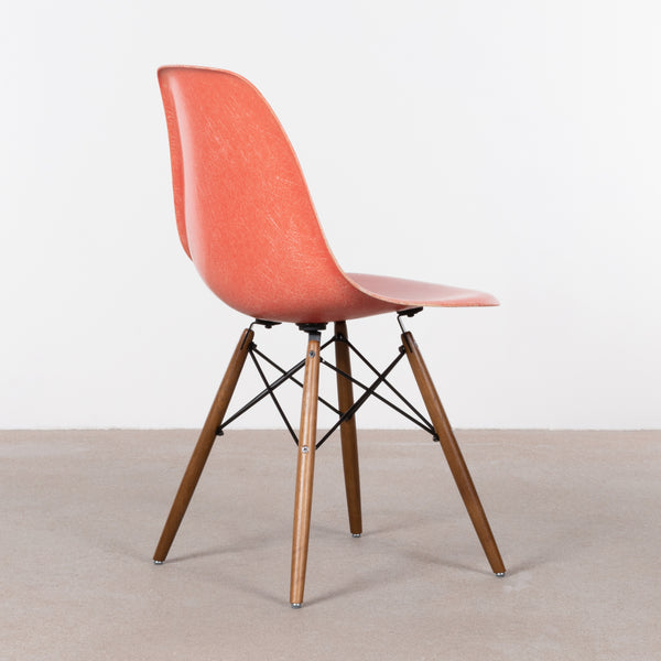Charles and Ray Eames DSW Salmon side chair