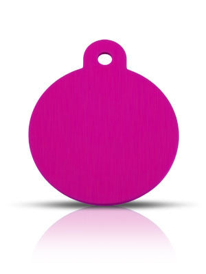 TaggIT Classic Pink Large Disc Dog Tag iMarc Tag