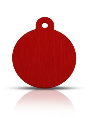 TaggIT Classic Large Disc Red Dog Tag iMarc Tag