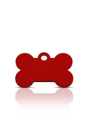 TaggIT Classic Small Bone Red Dog Tag iMarc Tag