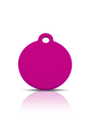 TaggIT Classic Small Disc Pink Dog Tag iMarc Tag