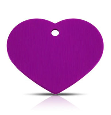 TaggIT Classic Large Heart Purple Dog Tag iMarc Tag