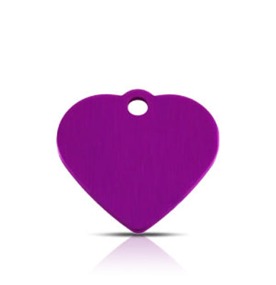 TaggIT Classic Small Heart Purple Dog Tag iMarc Tag