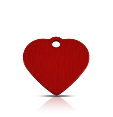 TaggIT Classic Small Heart Red Dog Tag iMarc Tag