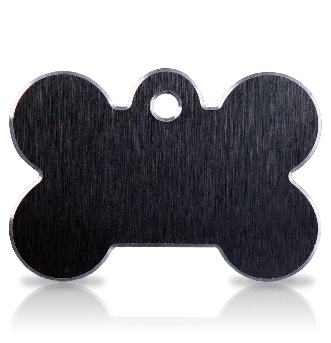 TaggIT Hi-Line Aluminium Large Bone Black iMarc Dog Tag