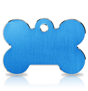 TaggIT Hi-Line Large Bone Blue iMarc Dog Engraving Tag