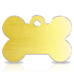 TaggIT Hi-Line Large Bone Gold Aluminum iMarc Pet Tag