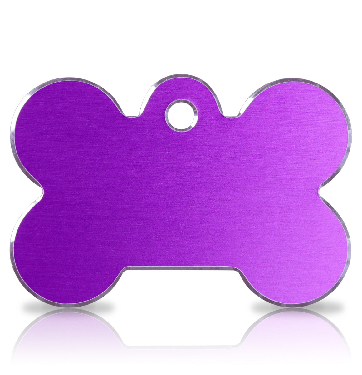 TaggIT Hi-Line Large Bone Purple iMarc Dog Tag