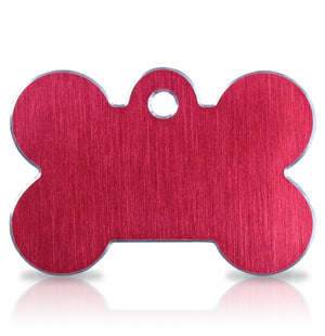 TaggIT Hi-Line Large Bone Red iMarc Engraving Dog Tag