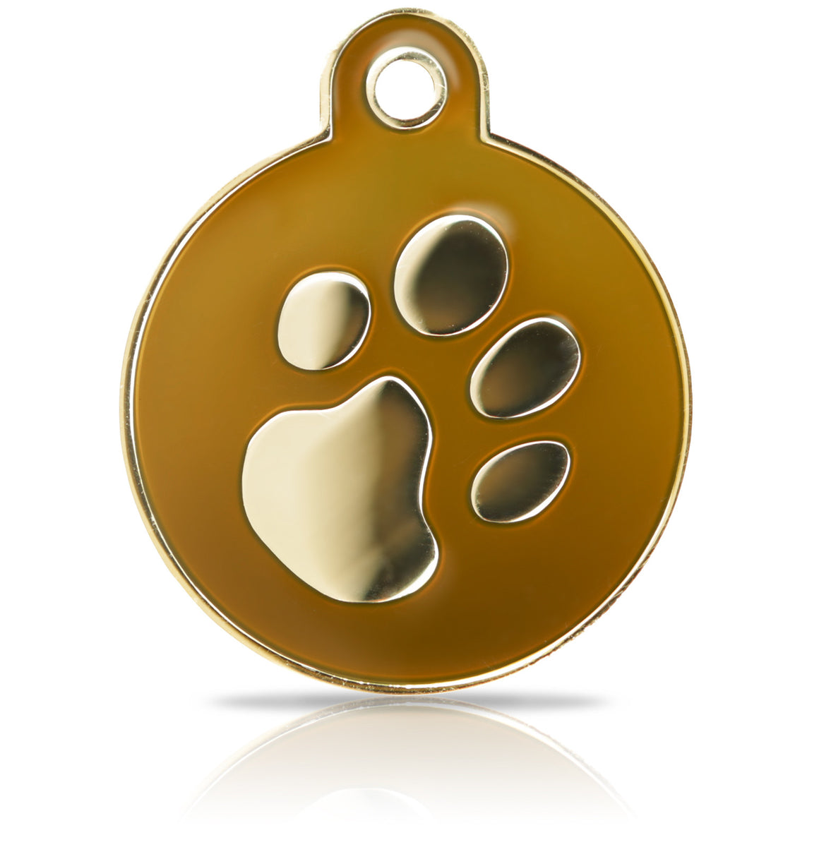 TaggIT Elegance Large Disc Brown & Gold Pet Tag iMarc Tag