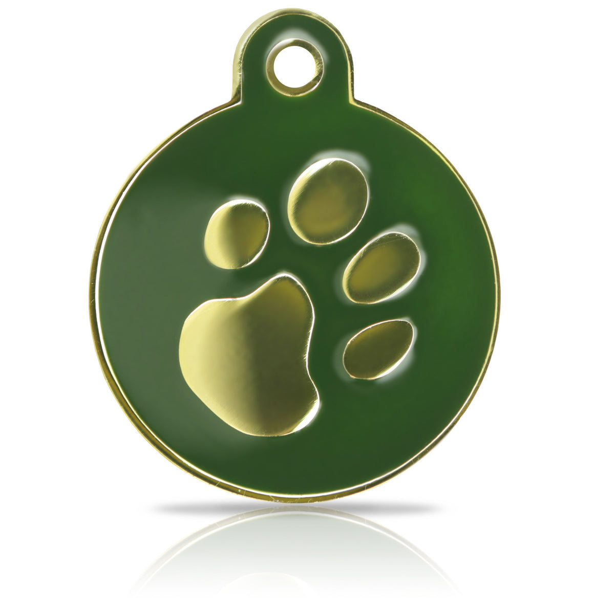 TaggIT Elegance Large Disc Green & Gold Pet Tag iMarc Tag