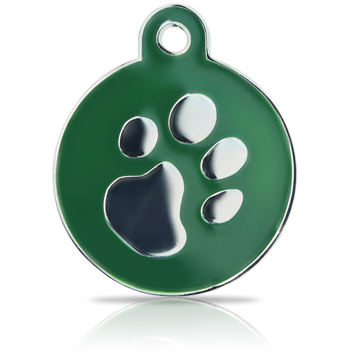 TaggIT Elegance Large Disc Green & Silver Pet Tag iMarc Tag