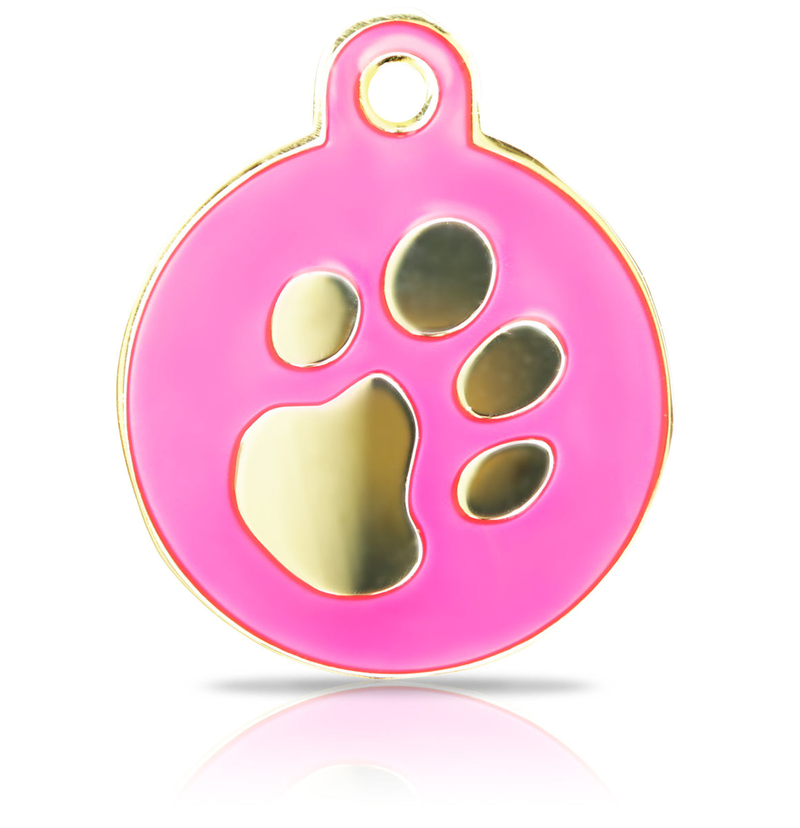 TaggIT Elegance Large Disc Pink & Gold Disc Pet Tag iMarc Tag