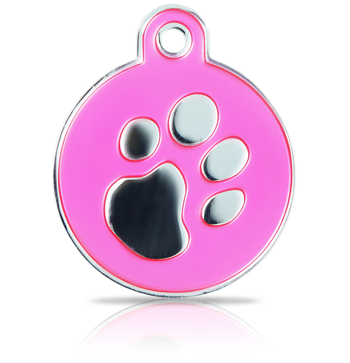 TaggIT Elegance Large Disc Pink & Silver Pet Tag Imarc tag
