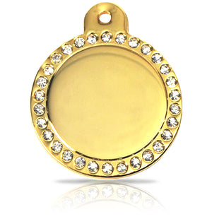 TaggIT Glamour Large Disc Diamond iMarc Pet Tag