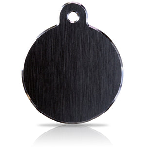 TaggIT Hi-Line Large Disc Black Aluminium iMarc Pet Tag