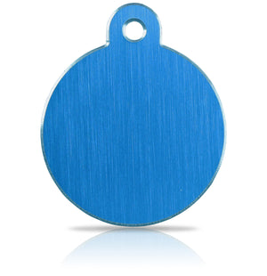iMarc Engraving Hi-Line Large Disc Blue Pet Tag