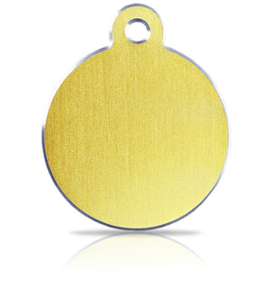 TaggIT Hi-Line Large Disc Gold Aluminium iMarc Pet Tag