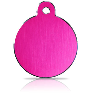 iMarc Engraving Hi-Line Large Disc Pink Pet Tag