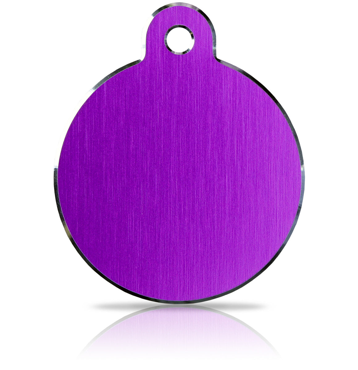 TaggIT Hi-Line Large Disc Purple iMarc Pet Engraving Tag