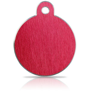 TaggIT Hi-Line Aluminium Large Disc Red iMarc Pet Tag