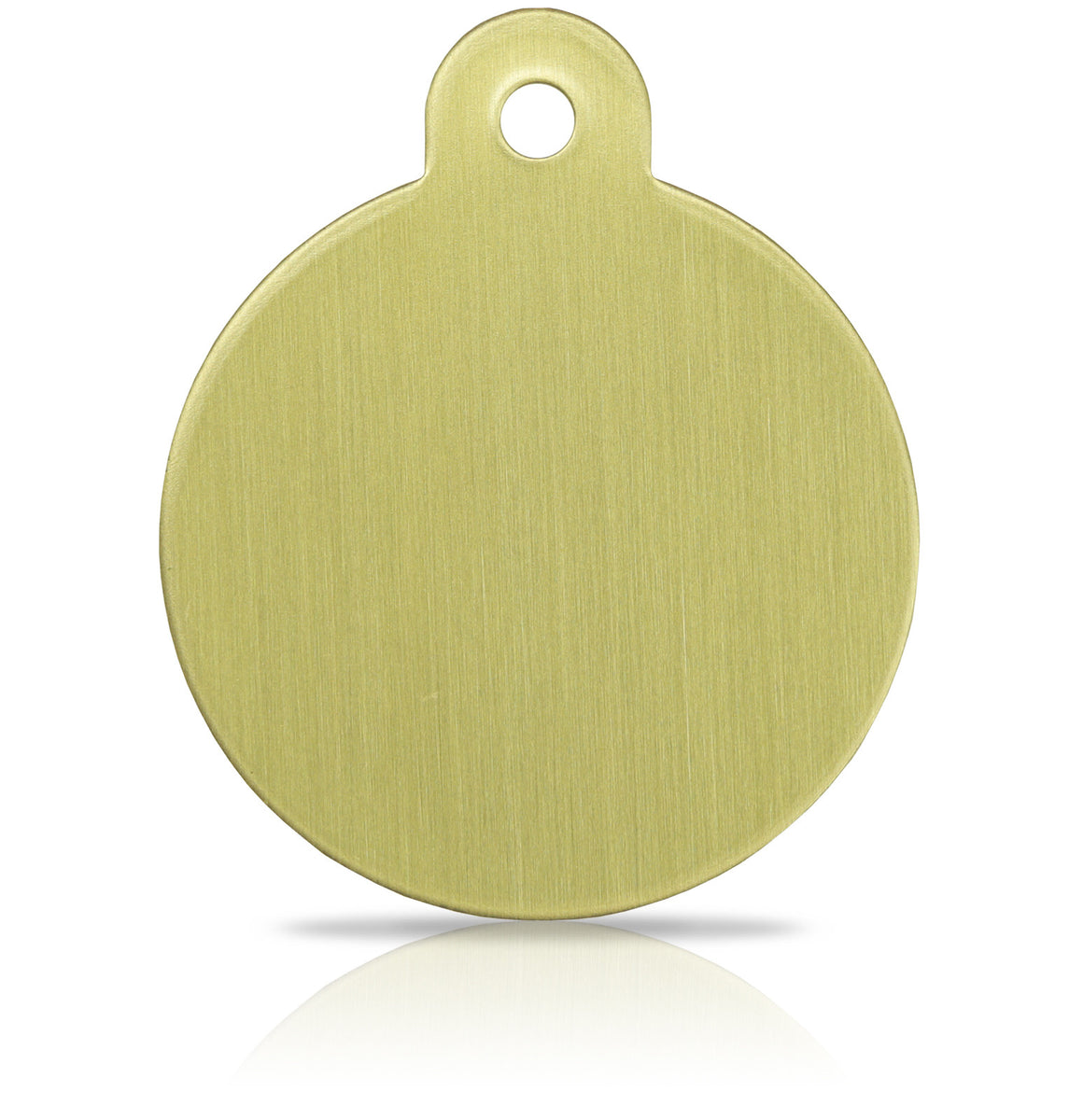 TaggIT Brass Series Large Disc Dog Tag Pet Tag iMarc Tag