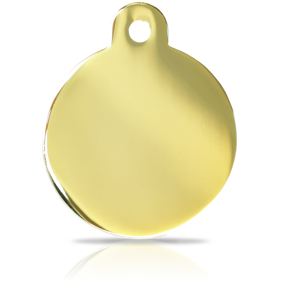 TaggIT Engraving Prestige Large Disc Gold iMarc Pet ID Tag