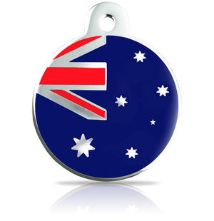 TaggIT Patriot Australian Flag Large Disc iMarc Pet Tag