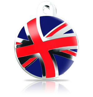 TaggIT Patriot Union Jack Flag Large Disc iMarc Pet ID Tag