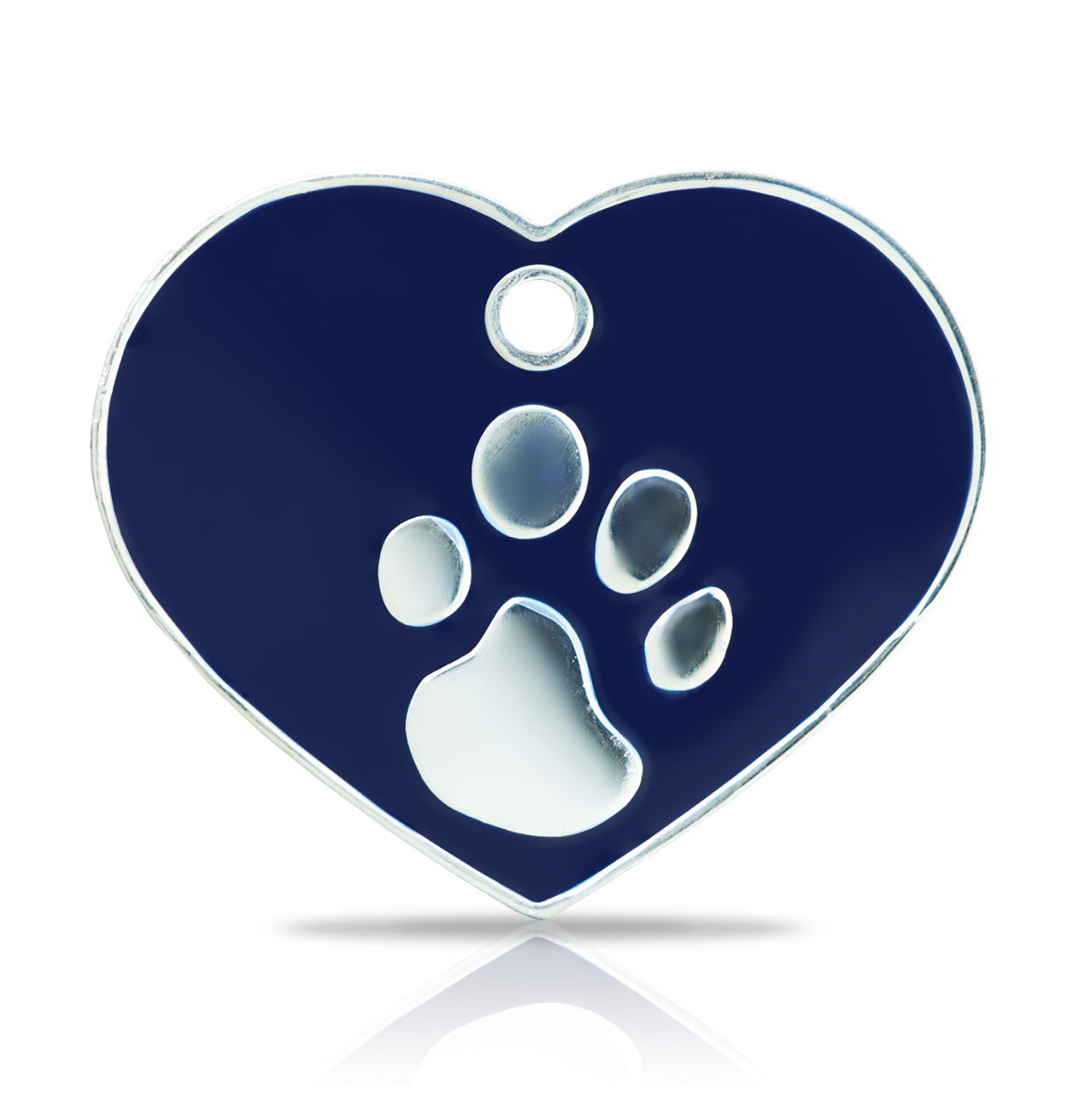 TaggIT Elegance Large Heart Blue & Silver iMarc Pet Tag