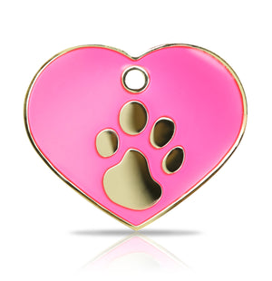 TaggIT Elegance Large Heart Pink & Gold iMarc Pet Tag