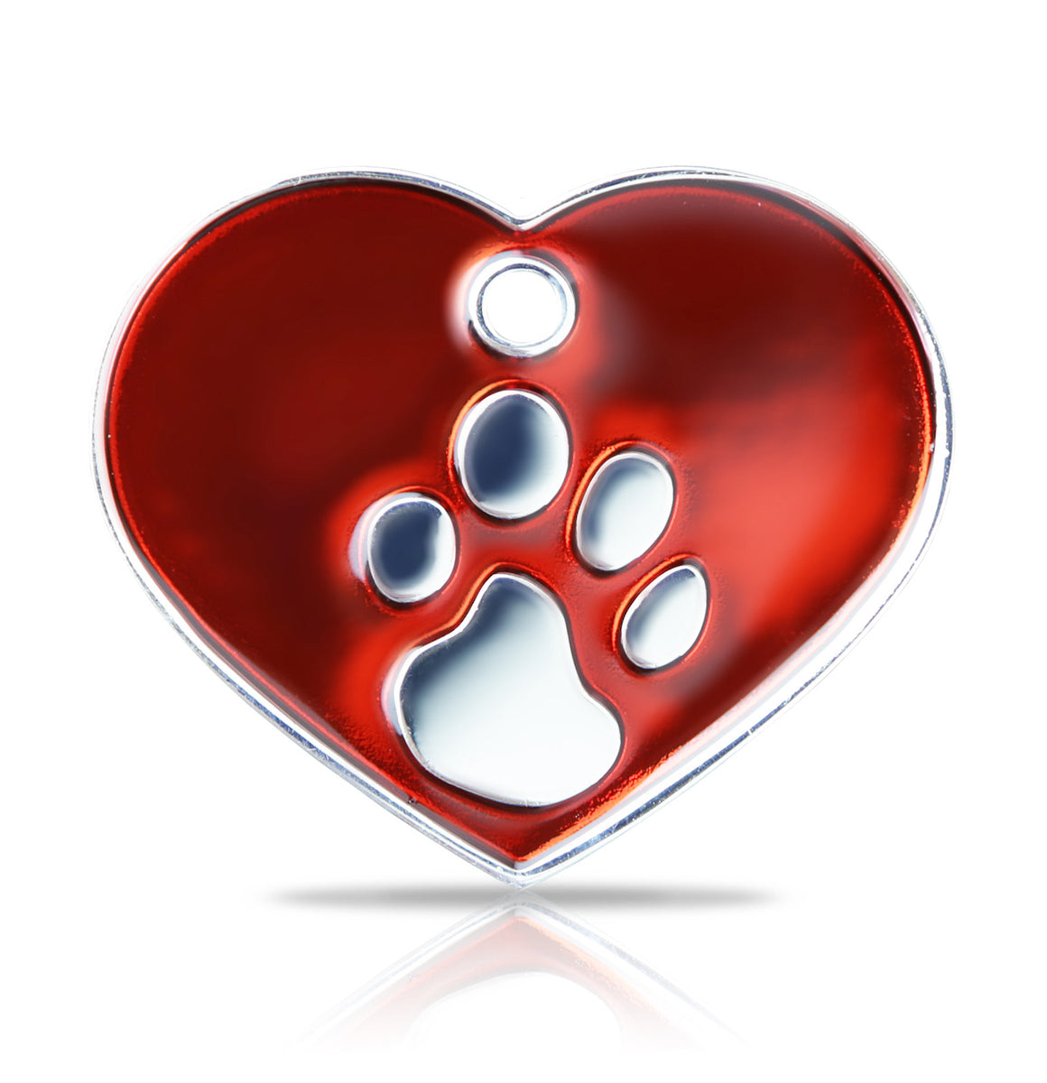 TaggIT Elegance Large Heart Red & Silver iMarc Pet Tag