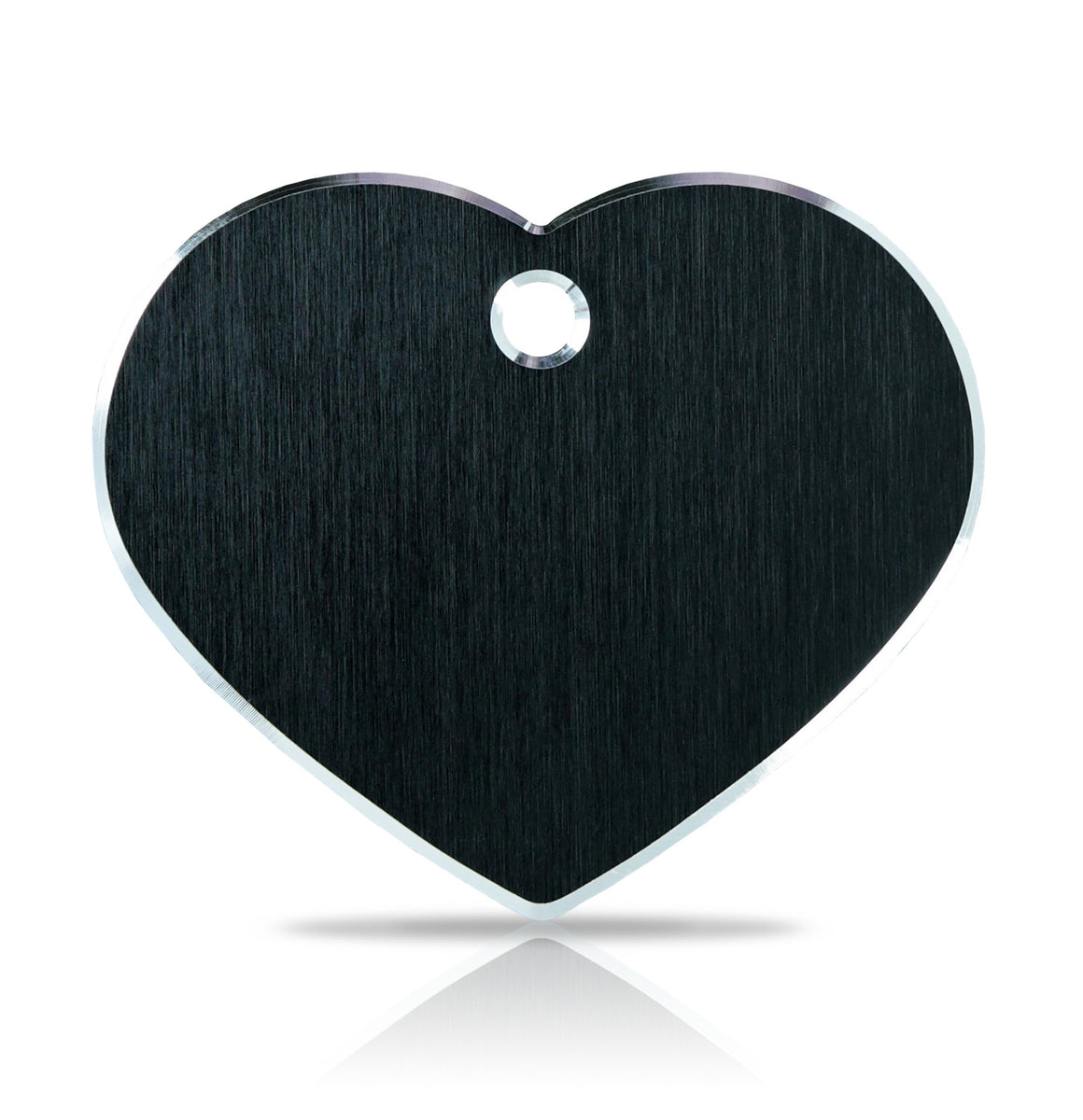 TaggIT Hi-Line Aluminium Large Heart Black iMarc Pet Tag
