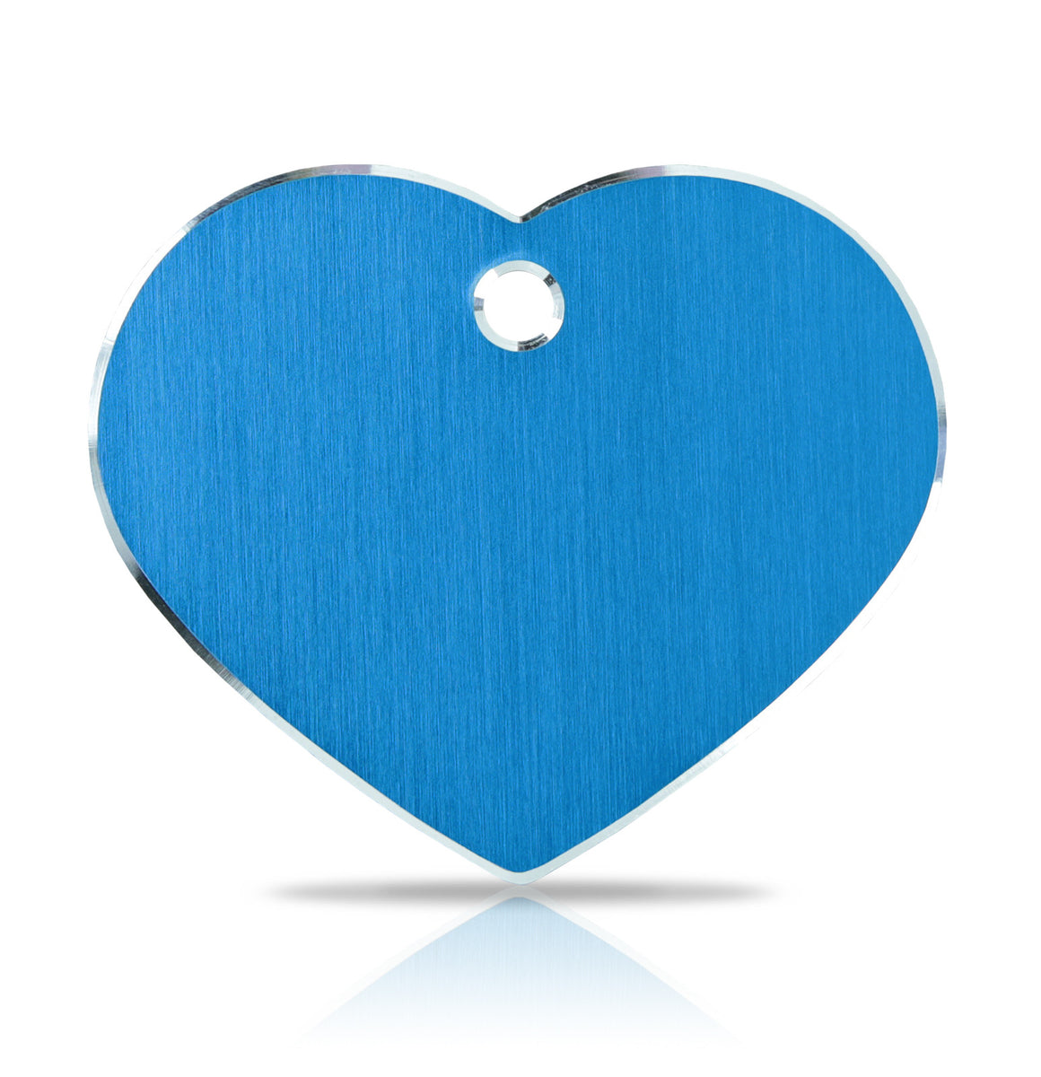 TaggIT Hi-Line Large Heart Blue Aluminum iMarc Pet Tag