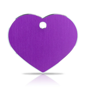 TaggIT Hi-Line Large Heart Purple Aluminium iMARC Pet Tag