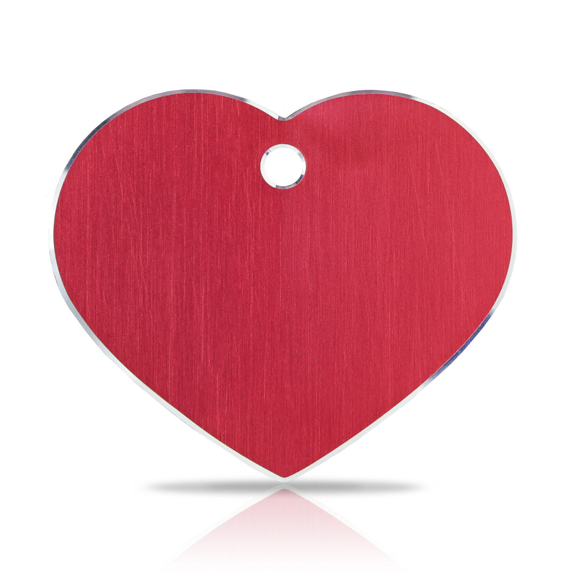 TaggIT Hi-Line Large Heart Red Aluminium iMarc Pet Tag