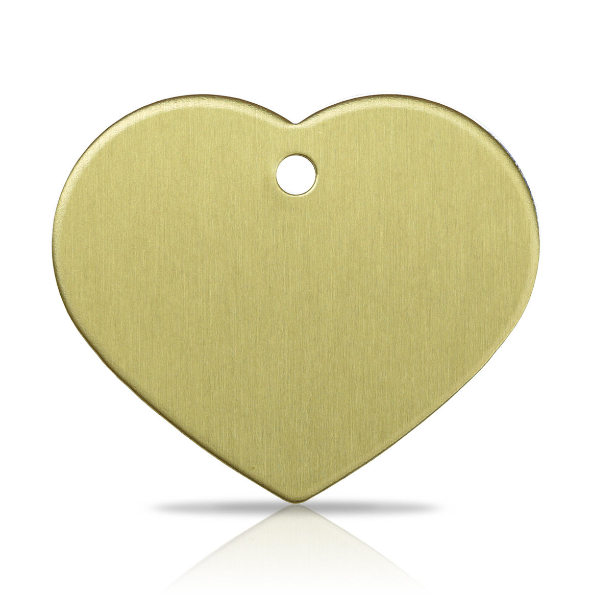 TaggIT Brass Series Large Heart Dog Tag Pet Tag iMarc Tag