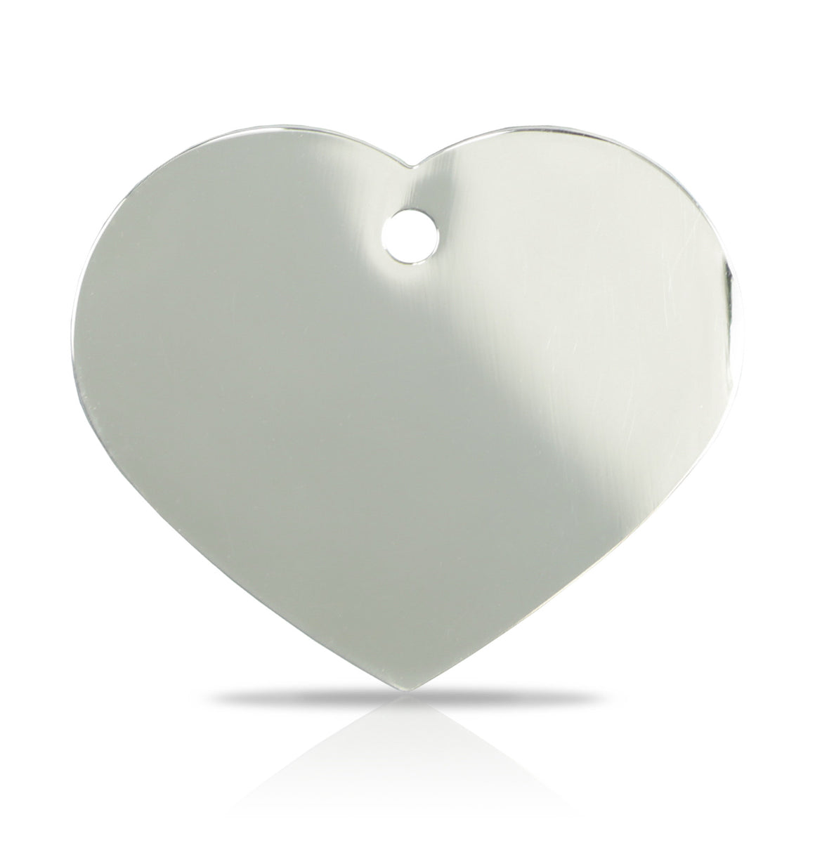 TaggIT Engraving Prestige Large Heart Silver iMarc Pet Tag