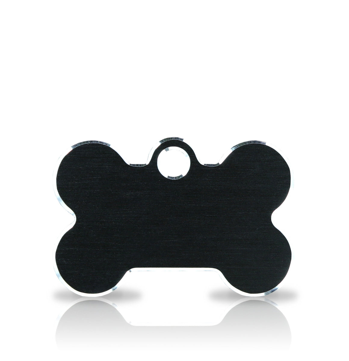 TaggIT Hi-Line Small Bone Black Aluminium iMarc Pet ID Tag
