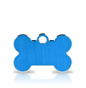 TaggIT Hi-Line Small Bone Blue Aluminium iMARC Pet ID Tag