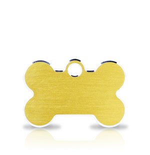TaggIT Hi-Line Small Bone Gold iMarc Pet ID Tag