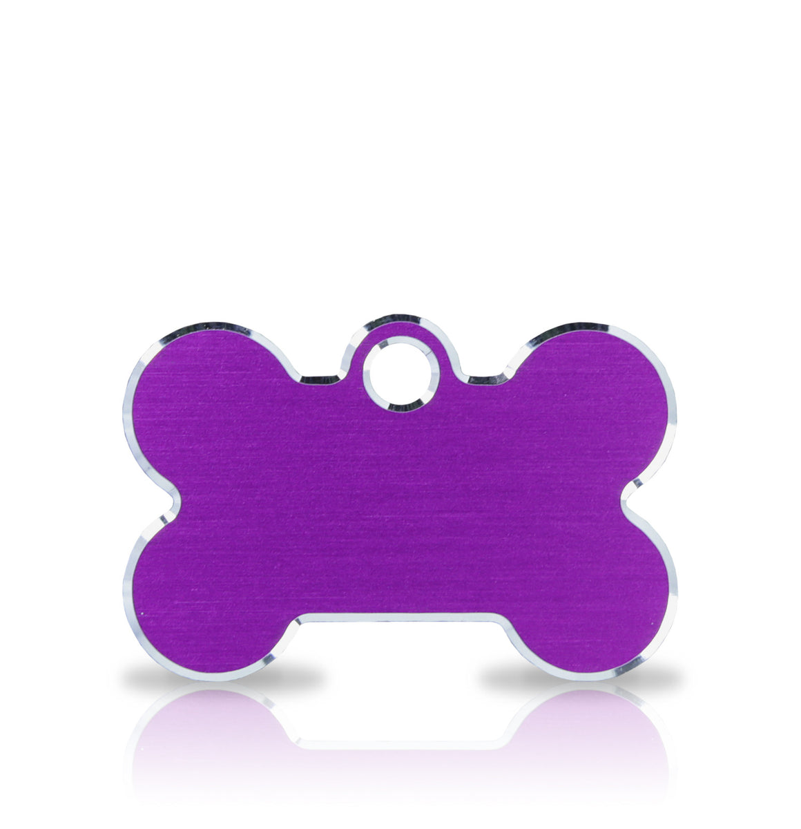 TaggIT Engraving Hi-Line Purple Small Bone iMarc Dog ID Tag