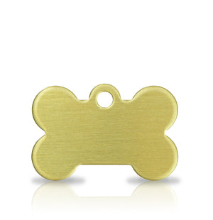 TaggIT Brass Series Small Bone Dog Tag iMarc Tag